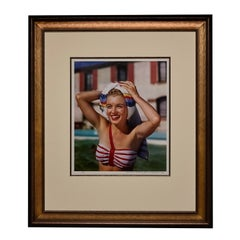 Marilyn Monroe By Bernard Of Hollywood (Poolside With Rainbow Towel) -Signed