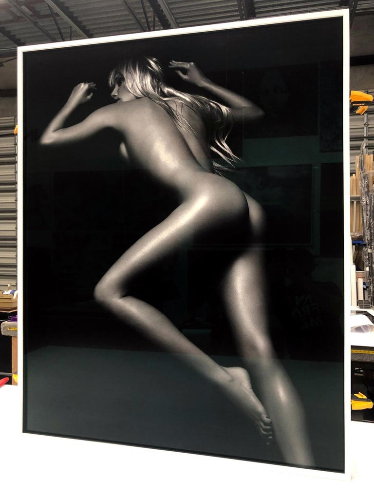 Exposure, Kristen Pazik, Milan - Black Black and White Photograph by Bruno Bisang