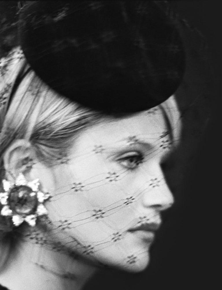 Bruno Bisang Portrait Photograph - Haute Couture - Helena Christensen at Balmain
