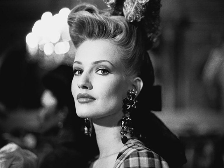 Bruno Bisang Black and White Photograph - Haute Couture - Karen Mulder at Christian Lacroix II