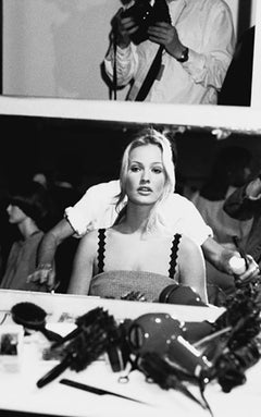 Haute Couture - Karen Mulder backstage at Versace