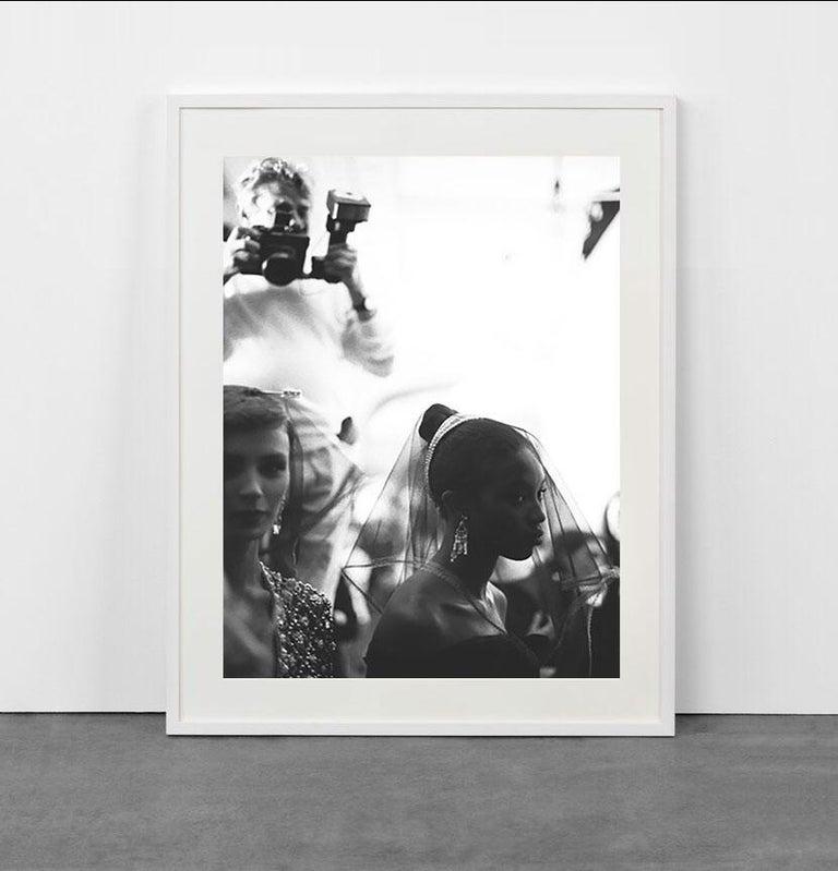 Helmut Newton shooting Naomi Campbell at Dior - Photograph by Bruno Bisang