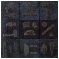 Bruno Capacci, Bas-Relief in Ceramic, 1950s