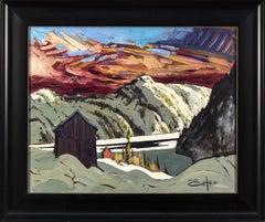 Pres De Sacre Coeur - 20th century expressionistic, mountainous landscape