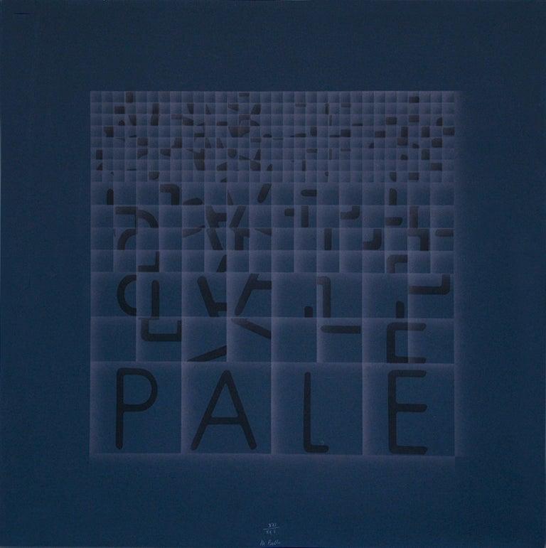 Bruno Di Bello Abstract Print - Pale (Blades) - Original Screen Print by Bruno di Bello - 1980 ca.