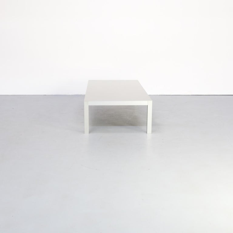 The LIM table was designed by Bruno Fattorini for MDF Italia and is a modern Minimalist designed table. The coffee table is special because of its simplicity. An extraordinarily slim design that, thanks to a unique construction and material