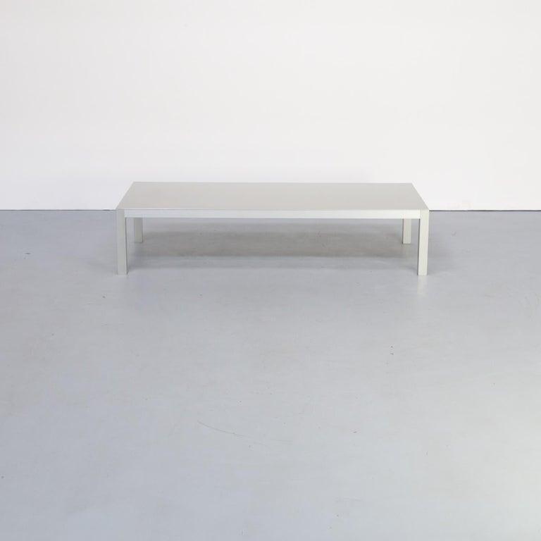 Italian Bruno Fattorini Metal 'LIM' Coffee Table for MDF Italia For Sale