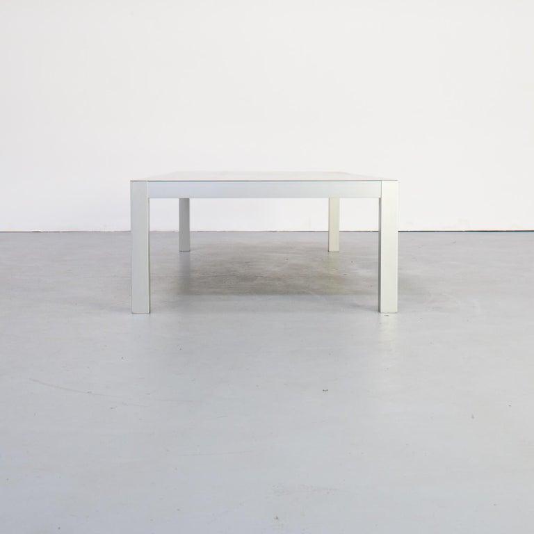 Aluminum Bruno Fattorini Metal 'LIM' Coffee Table for MDF Italia For Sale