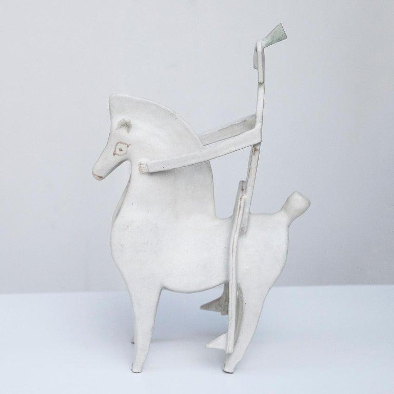Bruno Gambone Art Pottery Knight Sculpture, 1980s In Excellent Condition For Sale In Munich, DE