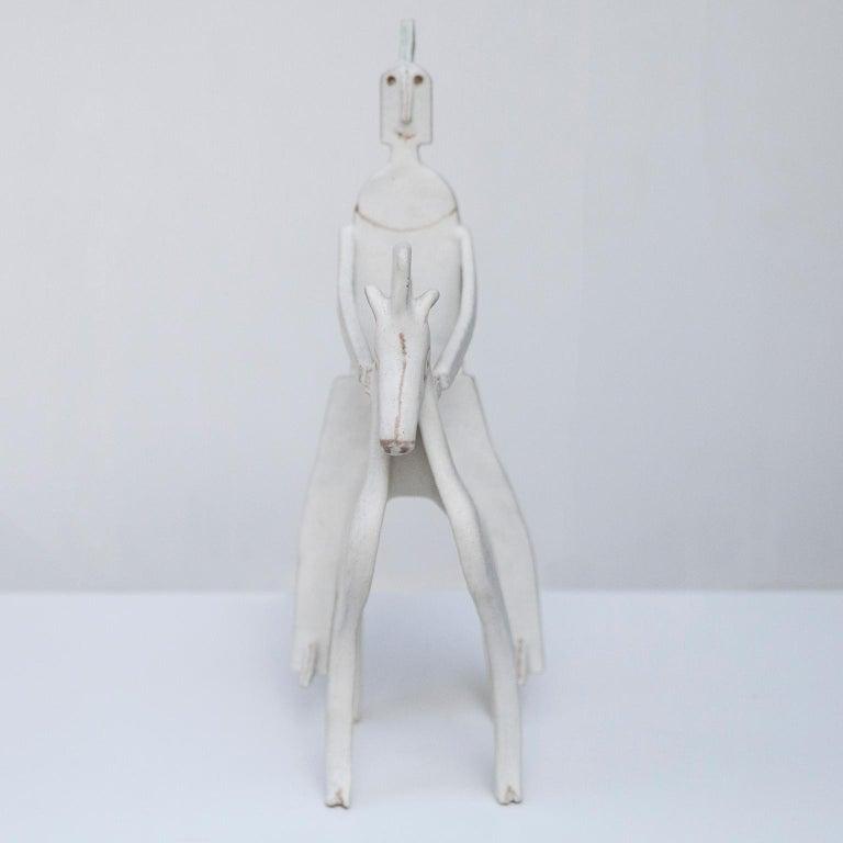Stoneware Bruno Gambone Art Pottery Knight Sculpture, 1980s For Sale