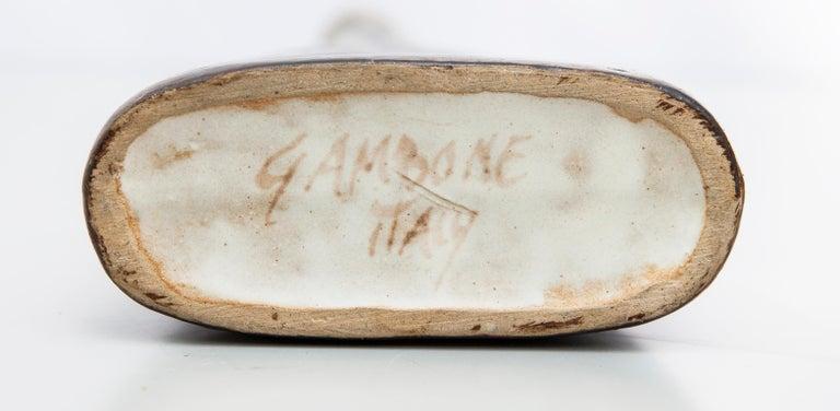Stoneware Bruno Gambone Black Green Ceramic Vase, Italy, 1980s For Sale
