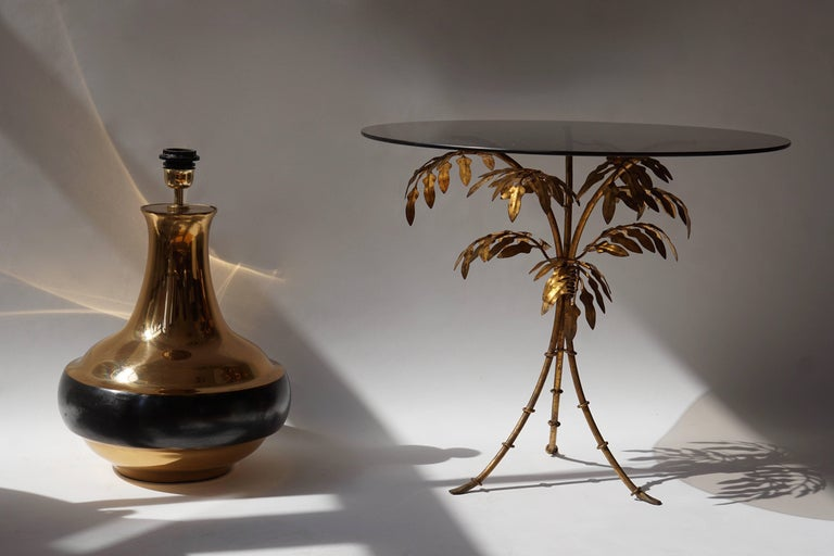 Bruno Gambone Brass Gilded Table Lamp For Sale 3
