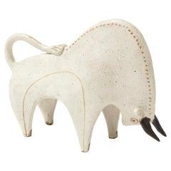 Bruno Gambone Ceramic Bull Sculpture, Italy, 1970s
