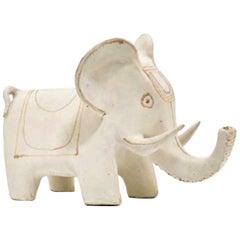 """Bruno Gambone Ceramic """"Elephant"""" Sculpture, 1990s"""