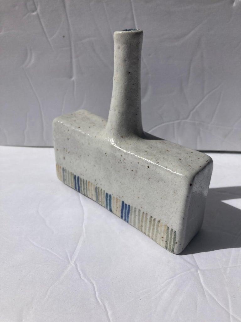 Italian Bruno Gambone Ceramic/Pottery Bottle/ Vase Signed For Sale