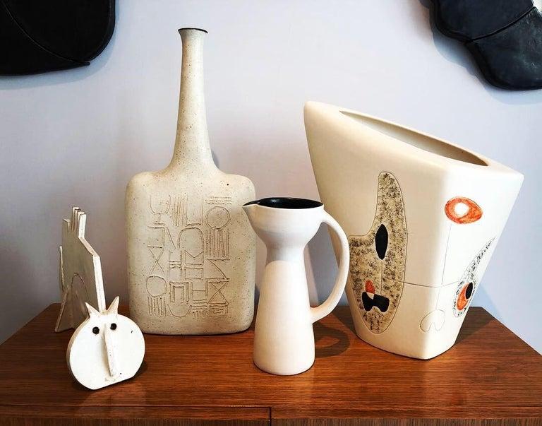Late 20th Century Bruno Gambone Ceramic Vase, 1970s For Sale