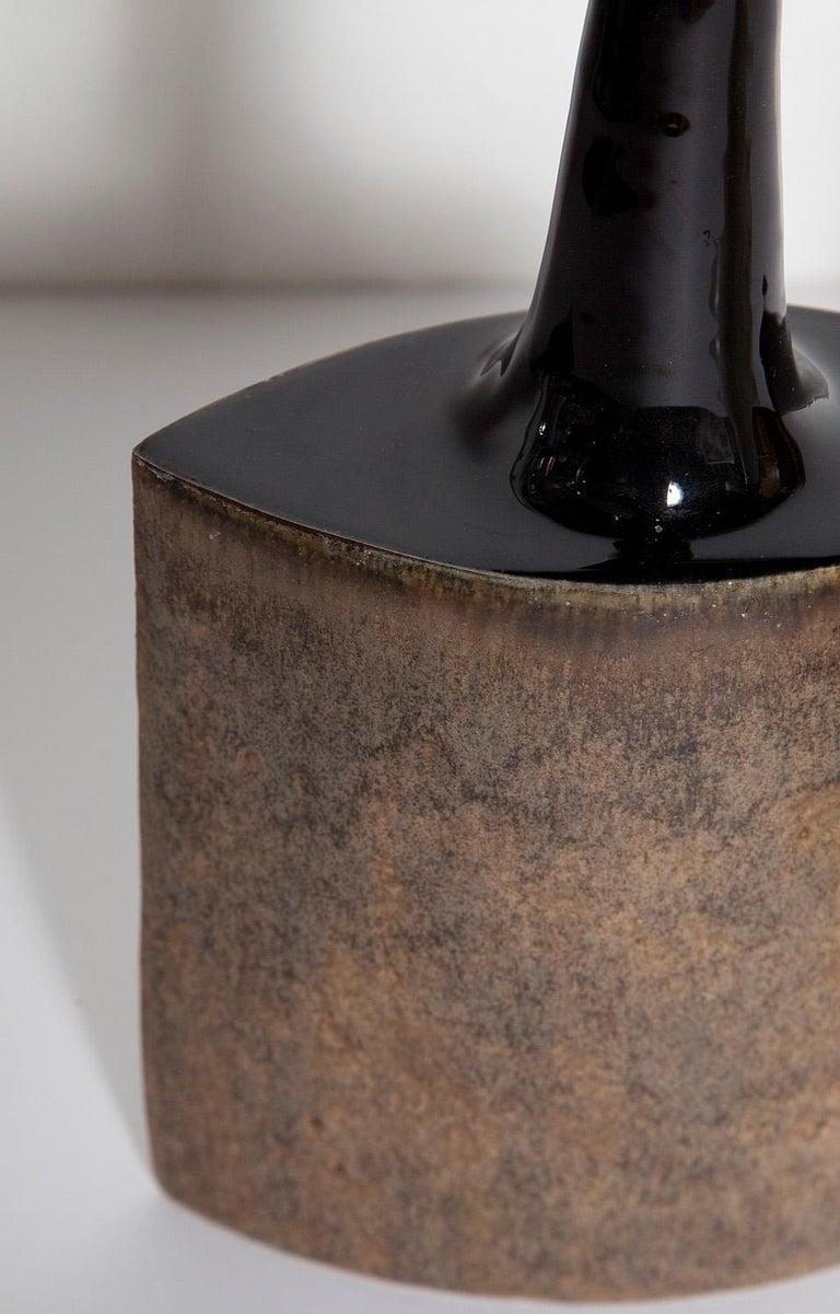 Mid-20th Century Brown Bruno Gambone Ceramic Vase