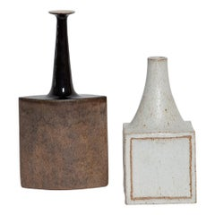 Brown Bruno Gambone Ceramic Vase