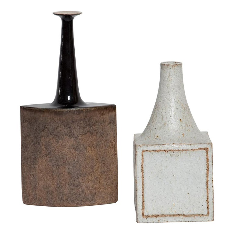 Brown Bruno Gambone Ceramic Vase