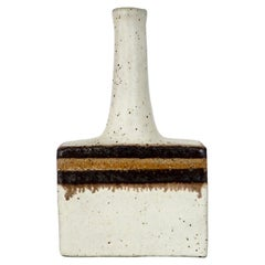 Bruno Gambone Glazed Ceramic Mini Bottle Vase, Italy, circa 1970