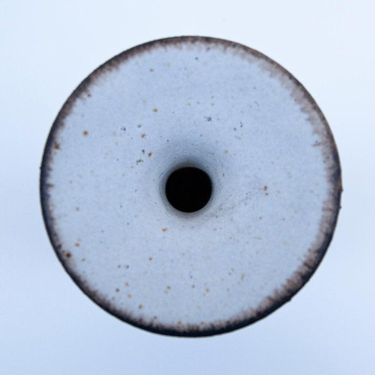 Stoneware Bruno Gambone Huge Greige Art Pottery Vase, 1980s For Sale