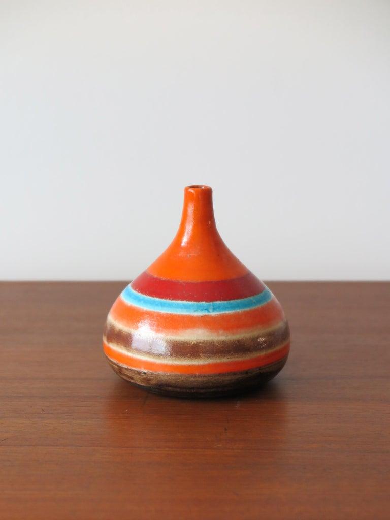 Mid-Century Modern Bruno Gambone Italian Midcentury Ceramic Vase, 1960