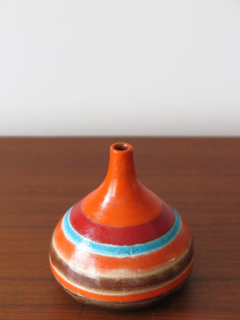 Bruno Gambone Italian Midcentury Ceramic Vase, 1960 In Good Condition In Modena, IT