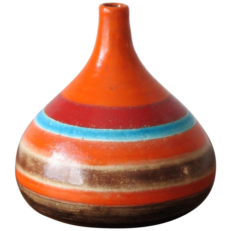 Bruno Gambone Italian Midcentury Ceramic Vase, 1960