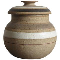 Bruno Gambone Italian Mid-Century Modern Design Stoneware Bowl, 1960s