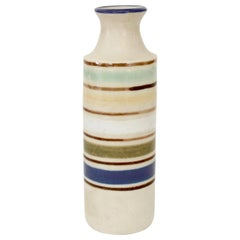 Bruno Gambone Multicolored Glazed Ceramic Mini Bottle Vase Italy, circa 1970