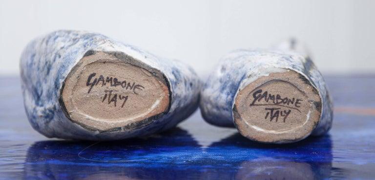 Bruno Gambone Stoneware Vase Blue, 1984, Set of Four For Sale 2