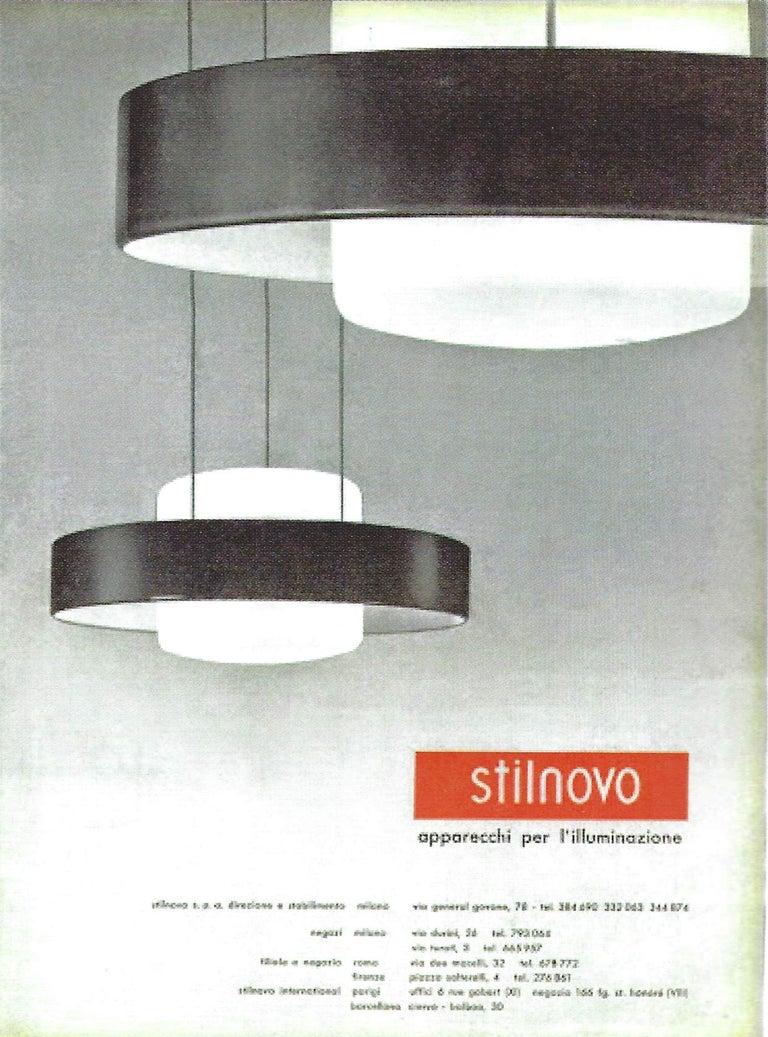 Bruno Gatta for Stilnovo Chandelier Model 1158 For Sale 5