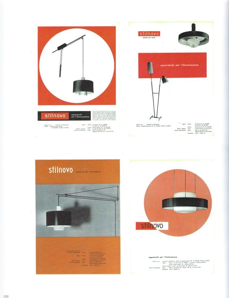 Bruno Gatta for Stilnovo Chandelier Model 1158 For Sale 6