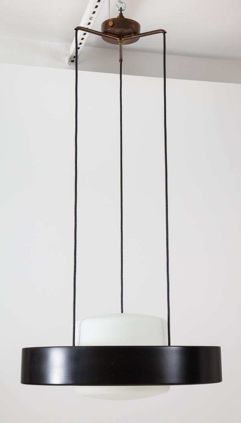 Italian Bruno Gatta for Stilnovo Chandelier Model 1158 For Sale
