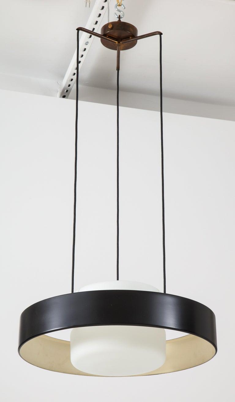 Bruno Gatta for Stilnovo Chandelier Model 1158 In Good Condition For Sale In New York, NY