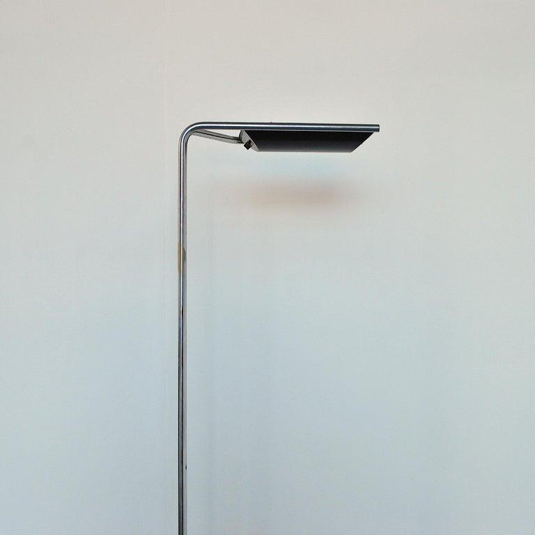 Metal Bruno Gecchelin Italian Midcentury Floor Lamp For Sale