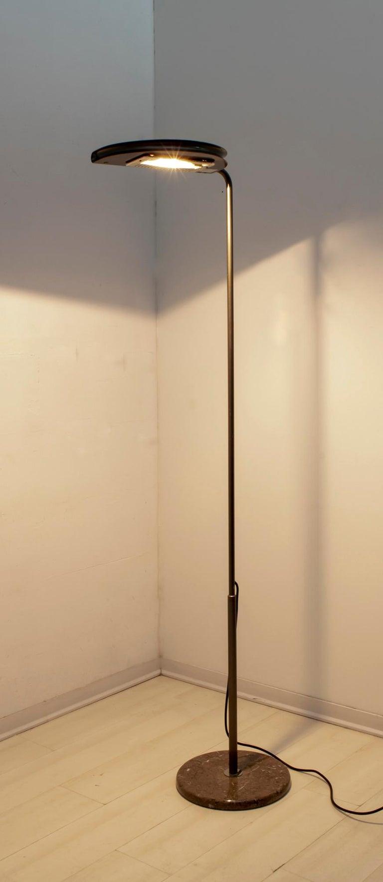 Italian Bruno Gecchelin Mid-Century Modern 'Mezzaluna' Floor Lamp for Skipper Pollux For Sale