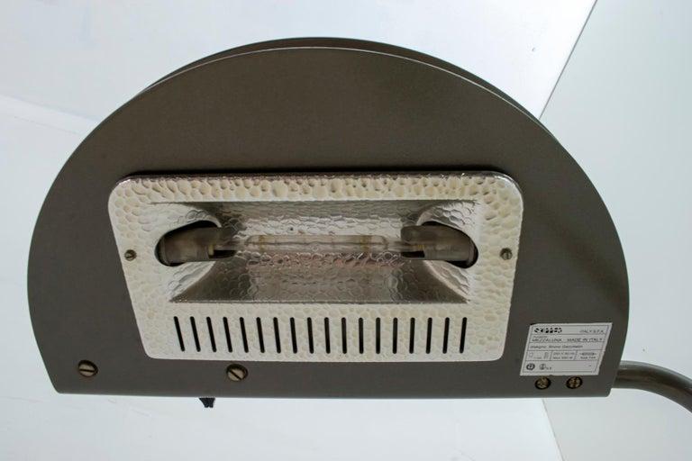 Late 20th Century Bruno Gecchelin Mid-Century Modern 'Mezzaluna' Floor Lamp for Skipper Pollux For Sale