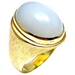 Bruno Guidi 11.88 Carat Moonstone and 18 Karat Yellow Gold Ring