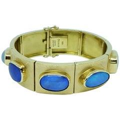 Bruno Guidi 18 Karat Gold Brazilian Crystal Opal Bracelet