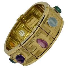 Bruno Guidi 18 Karat Gold Multicolored Freeform Bracelet