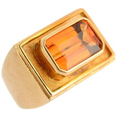 Bruno Guidi Citrine Gold Ring
