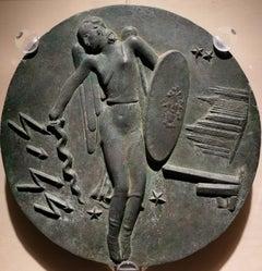Bruno Innocenti Bronze Allegory Bass-Relief 20th century