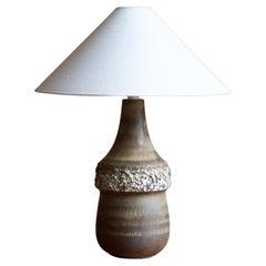 Bruno Karlsson, Sizable Table Lamp, Stoneware, Studio Ego, Sweden, 1960s