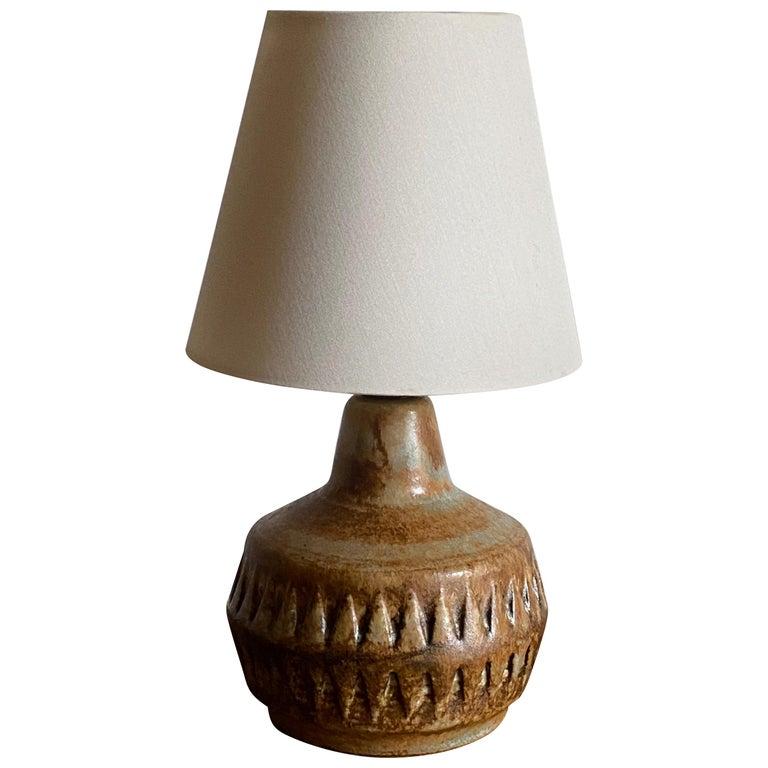 Bruno Karlsson, Small Table Lamp, Glazed Stoneware, Studio Ego, Sweden, 1960s For Sale