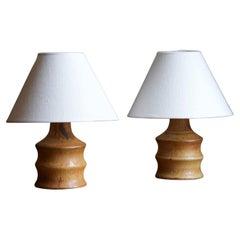 Bruno Karlsson, Small Table Lamps, Stoneware, Studio Ego, Sweden, 1960s