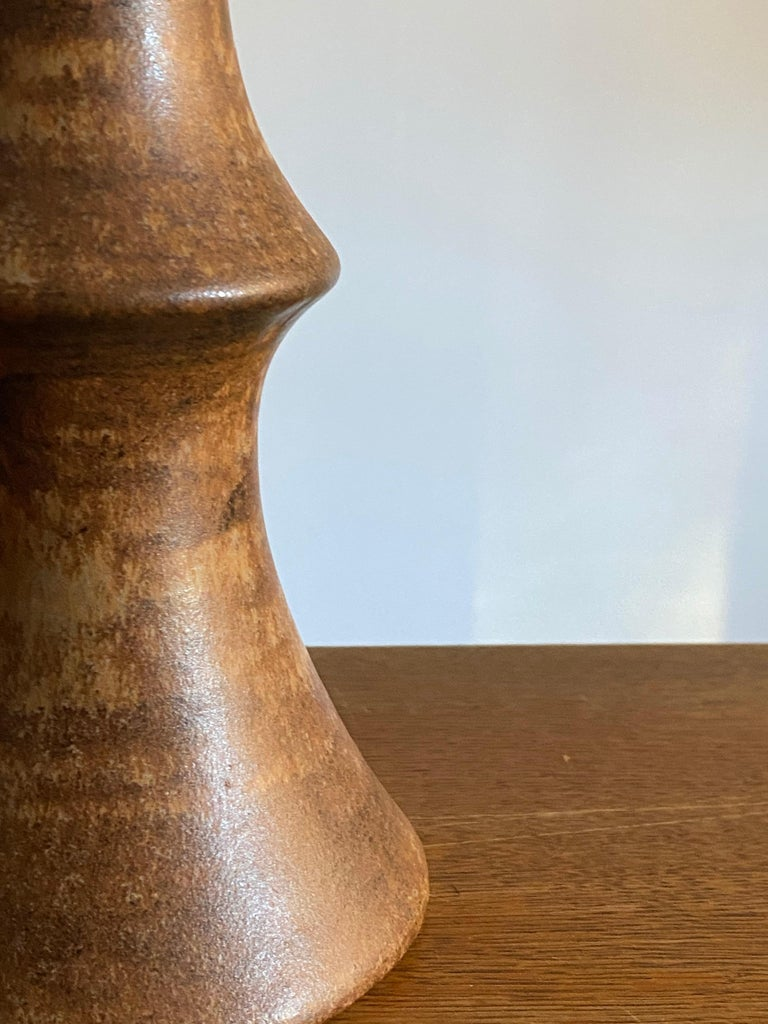 Swedish Bruno Karlsson, Table Lamp, Glazed Stoneware, Studio Ego, Sweden, 1960s For Sale