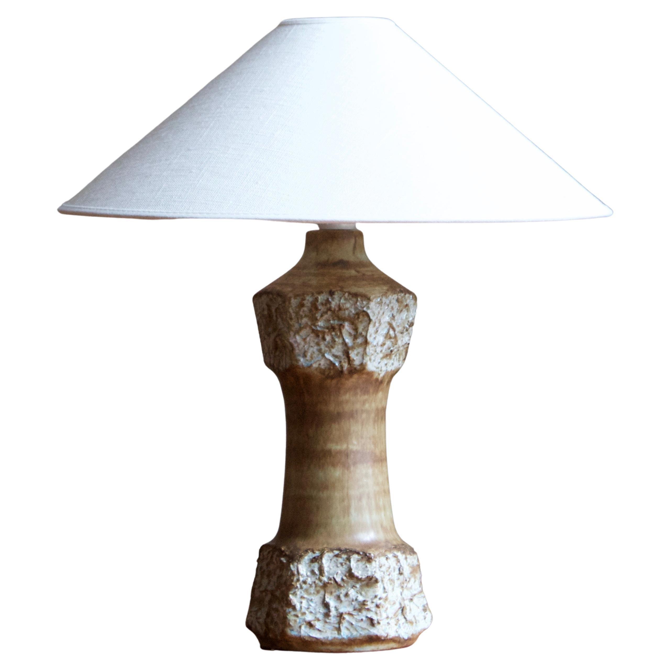 Bruno Karlsson, Table Lamp, Stoneware, Studio Ego, Sweden, 1960s