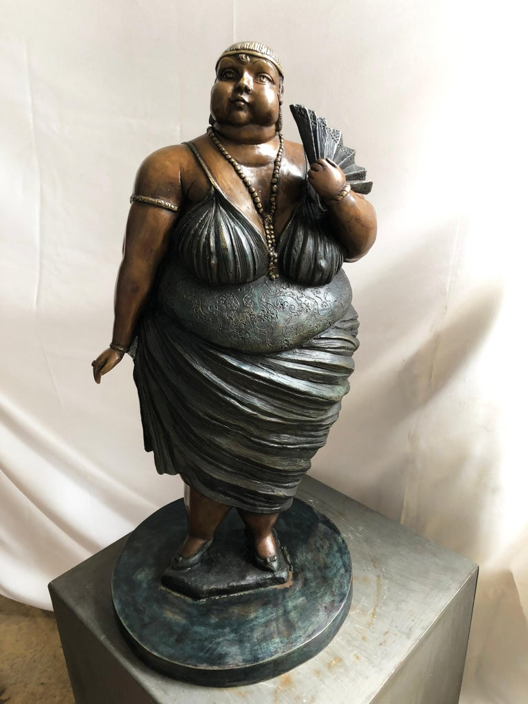 "Contemprary Mexican Sculptor Bruno Luna ""Donna Bella"" - Sculpture by Bruno Luna"