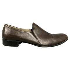 BRUNO MAGLI Size 9 Brown Contrast Stitch Leather Loafers